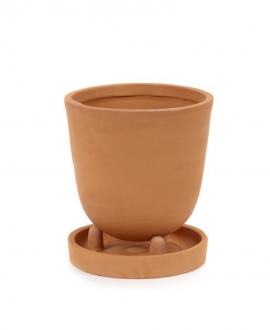 Conical Pot With Saucer S