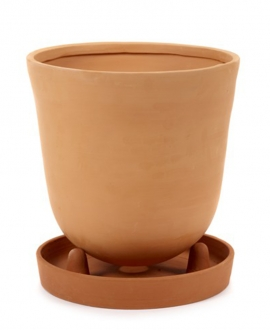 Conical Pot With Saucer L