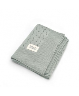 Baby Shower - Grey Tricot Knit Blanket