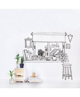 Vinilo Ventana café - Chispum