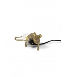 Mouse Lamp Gold / Lop  - Lying Down