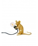 Mouse Lamp Gold / Mac - Sitting