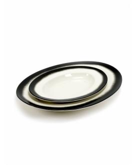 Oval Dish Black Edge Pasta&Pasta - Serax