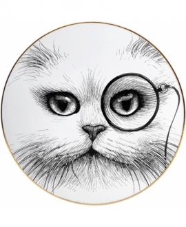 CAT MONOCLE PLATE