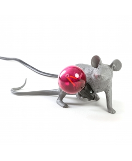 Mouse Lamp Gray / Lying Down