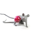 Mouse Lamp Gray /  Lop - Lying Down
