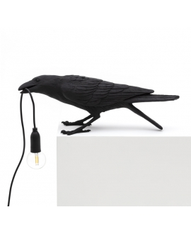 Bird Lamp Black Playing - Seletti