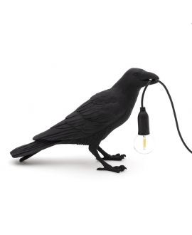 Bird Lamp Black Waiting - Seletti