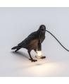 Bird Lamp Black Waiting - Seletti