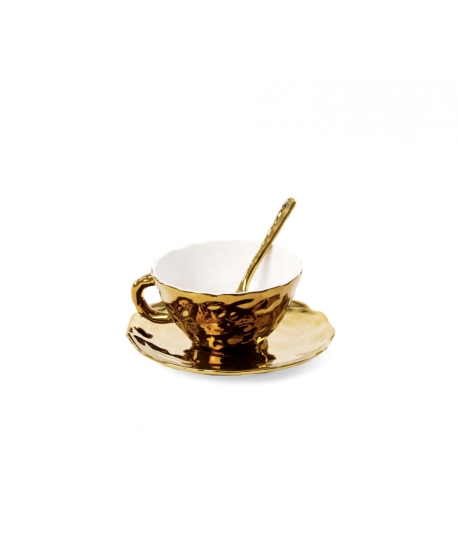 Fingers Porcelain Gold Tea Cup - Seletti