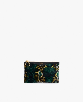 WOUF - Snakeskin Velvet Night Clutch Bag S