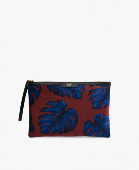 WOUF - Leaves Velvet Night Clutch Bag L