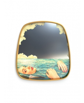 Mirror Gold Frame Sea Girl - Seletti