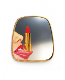 Mirror Gold Frame Tongue - Seletti