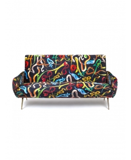 Sofa three seater Snakes - Seletti