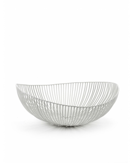 Plate Oval Metal Sculptures White - Serax