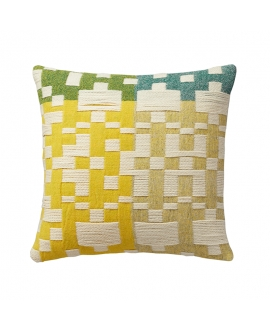 Donna Wilson - Pennan Woven Cushion Green/Yellow